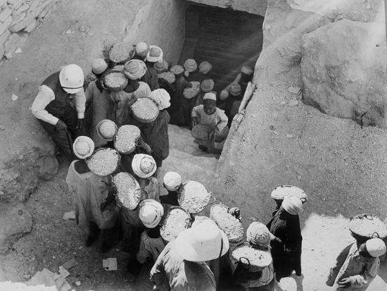Closing the Tomb of Tutankhamun, Valley of the Kings, Egypt, February 1923-Harry Burton-Photographic Print
