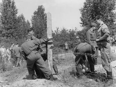 Closure of the Border at Kleinmachnow Near West Berlin--Photographic Print