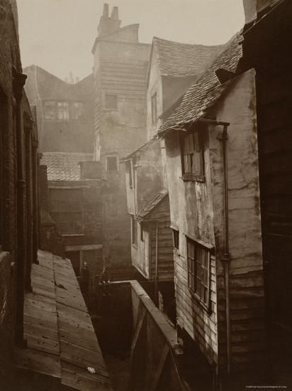 Cloth Fair, Smithfield c.1875-Peter Henry Emerson-Photographic Print