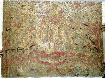 Cloth Painting, Probably Used as Curtains Beside a Temple Couch--Giclee Print