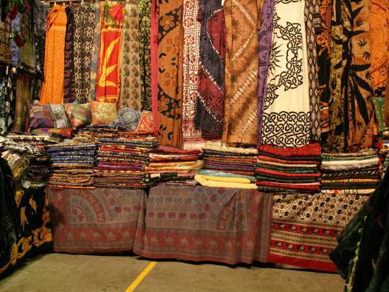 Cloth Stall, Paddy's Market, near Chinatown, Sydney, Australia-David Wall-Photographic Print