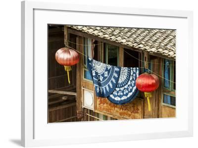 Clothes Drying Ping'An Village. Dragon Spine Rice Terraces, Longsheng, China-Michael DeFreitas-Framed Photographic Print