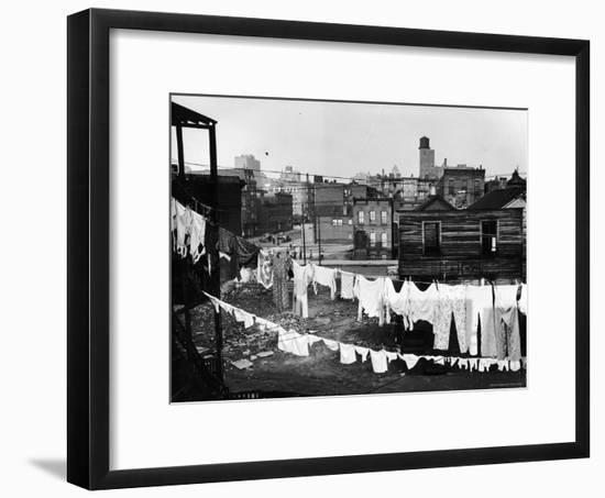 Clothes Lines Hung with Laundry in the Slums of Chicago-Gordon Coster-Framed Photographic Print