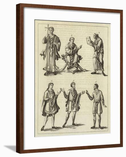 Clothes of the Anglo Saxons--Framed Giclee Print