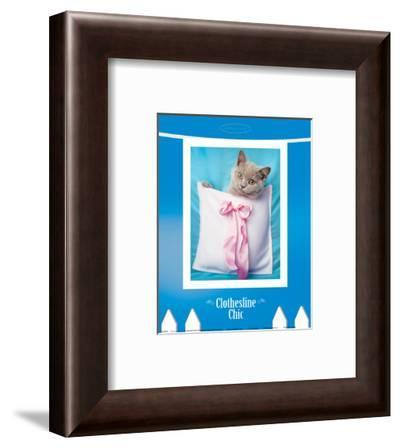 Clothesline Chic-Rachael Hale-Framed Art Print