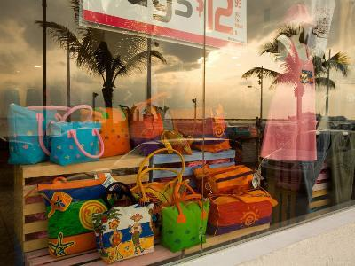 Clothing and Gift Shop Along the Waterfront, Cozumel, Mexico-Michael S^ Lewis-Photographic Print