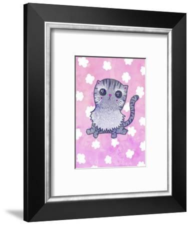 Cloud Cat-My Zoetrope-Framed Art Print