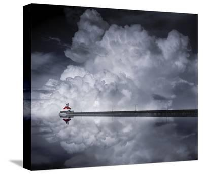 Cloud Desending-Like He-Stretched Canvas Print