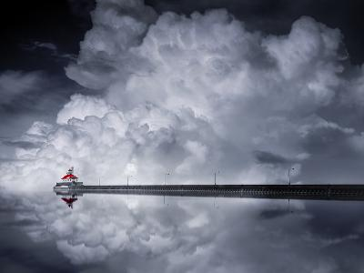 Cloud Desending-Like He-Photographic Print