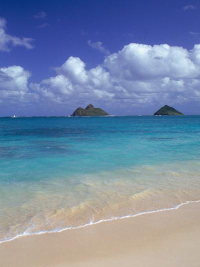 Cloud Filled Sky Over Blue Sea, Lanikai, Oahu, HI-Mitch Diamond-Photographic Print