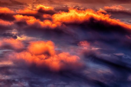Cloud Fire Abstract Fluffy Nature Detail Red-Vincent James-Photographic Print