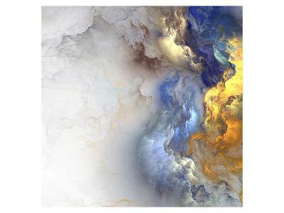 Cloud Like Blue Gold Color Mix--Art Print