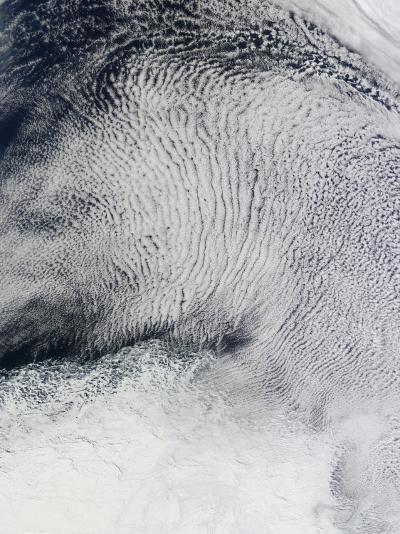 Cloud Patterns and Sea Ice in the Southern Ocean--Photographic Print