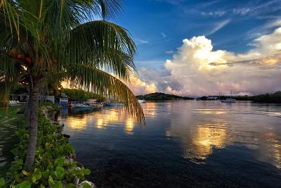 Cloud Reflection, La Parguera, Puerto Rico-George Oze-Photographic Print