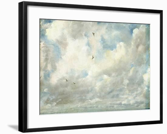 Cloud Study, 1821 (Oil on Paper Laid Down on Board)-John Constable-Framed Giclee Print