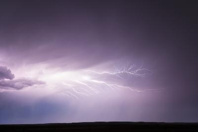 Cloud-To-Cloud Lightning Wriggles across the Sky-Jim Reed-Photographic Print