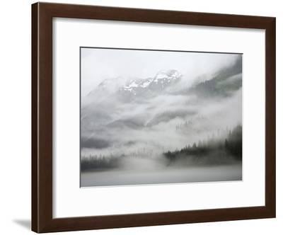 Clouds and Mist over Forest, Admiralty Island National Monument, Inside Passage, Alaska-Konrad Wothe-Framed Photographic Print