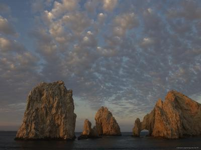 Clouds at Sunrise over Friars Rocks and Los Arcos at Lands End, Baja-Ralph Lee Hopkins-Photographic Print