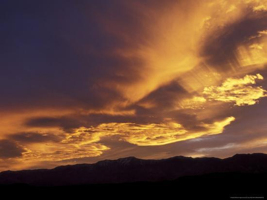 Clouds at Sunset from Artists Drive, Death Valley National Park, California, USA-Jamie & Judy Wild-Photographic Print
