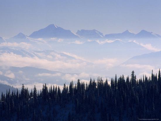 Clouds Envelope the Rocky Mountains Near Whitefish-Gordon Wiltsie-Photographic Print
