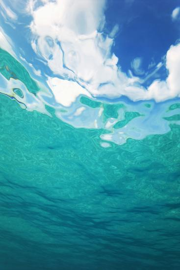 Clouds From Underwater-Peter Scoones-Photographic Print