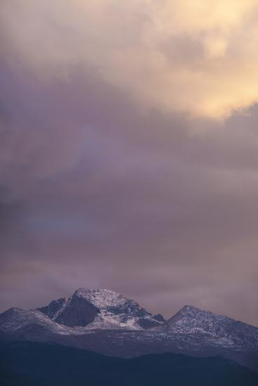 Clouds Lit by Setting Sun Above Rocky Mountains Ridge-Anna Miller-Photographic Print