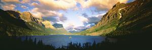 Clouds over a Lake, St. Mary Lake, Glacier National Park, Montana, USA