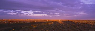 Clouds over a Landscape, Desert Highway, Navajo, New Mexico, USA--Photographic Print