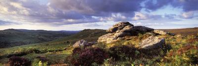 Clouds over a Landscape, Haytor Rocks, Dartmoor, Devon, England--Photographic Print