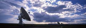 Clouds over a Radio Telescope, Very Large Array, National Radio Astronomy Observatory, Socorro, ...
