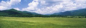 Clouds over Mountains, Cades Cove, Great Smoky Mountains, Great Smoky Mountains National Park, T...