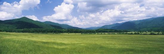 Clouds over Mountains, Cades Cove, Great Smoky Mountains, Great Smoky Mountains National Park, T...--Photographic Print