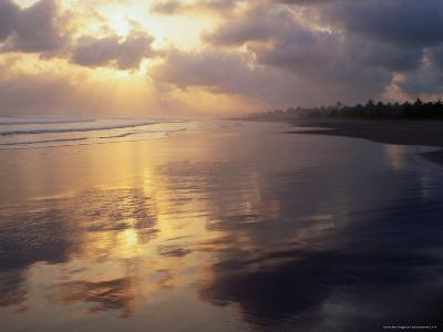 Clouds Over Pangandaran Beach, Java, Central Java, Indonesia-Glenn Beanland-Photographic Print