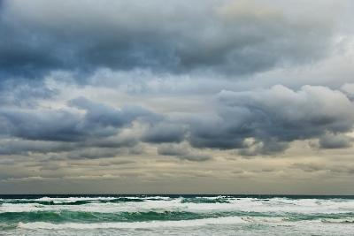 Clouds over Rough Sea-Norbert Schaefer-Photographic Print