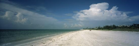 Clouds over the Beach, Lighthouse Beach, Sanibel Island, Fort Myers, Florida, USA--Photographic Print