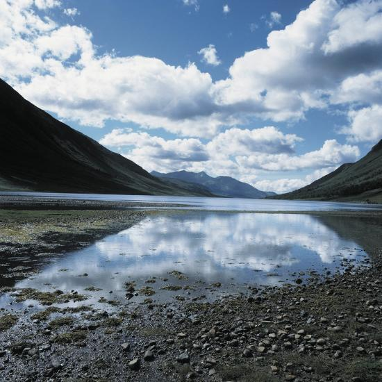 Clouds Reflected in Loch Etive--Photographic Print