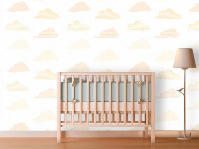 Clouds - Sunshine Self-Adhesive Wallpaper--Home Accessories