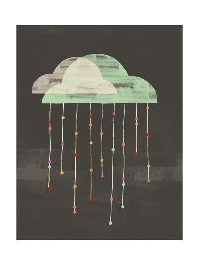 Clouds with Lines and Dots Hanging from Them--Art Print