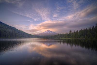 Cloudscape Reflection at Trillium Lake, Oregon-Vincent James-Photographic Print