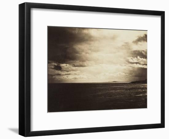 Cloudy Sky, Mediterranean Sea, 1857-Gustave Le Gray-Framed Photographic Print
