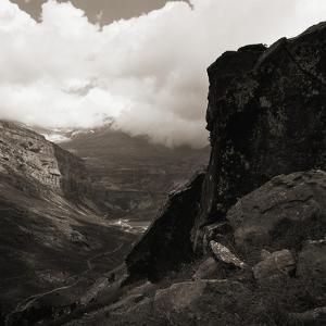 Cloudy Sky Over a Canyon