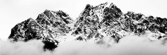 Cloudy Zugspitz in Black and White-Mat Selsek-Photographic Print