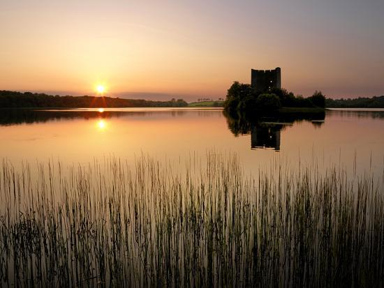 Cloughoughter Castle on Lough Oughter in Cavan, Ireland-Chris Hill-Photographic Print