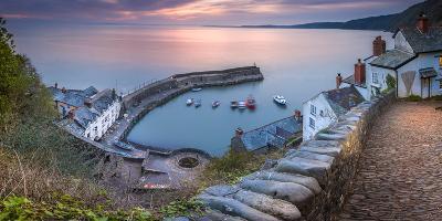 Clovelly Harbour-Terry Mathews-Photographic Print