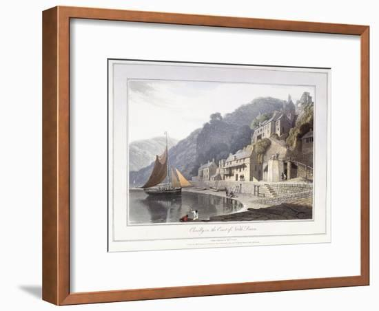 Clovelly, on the Coast of North Devon, 1814-William Daniell-Framed Giclee Print