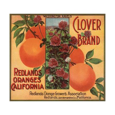 Clover Brand - Redlands, California - Citrus Crate Label-Lantern Press-Art Print