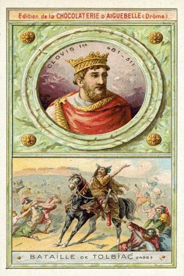 Clovis I at the Battle of Tolbiac, 496--Giclee Print