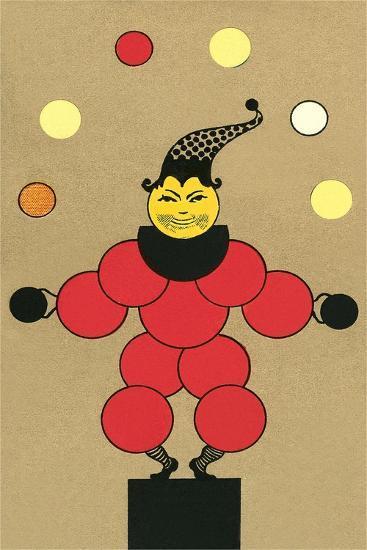 Clown Made of Circles--Art Print