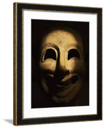 Clown Mask, Terracotta, Phoenicia, 6th century BC, from San Esperate, Sardinia--Framed Photographic Print