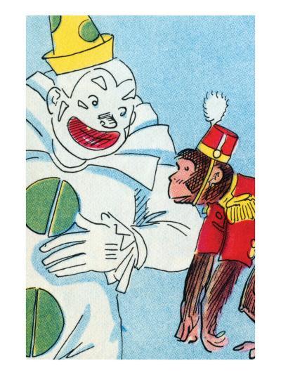 Clown & Monkey-Julia Letheld Hahn-Art Print